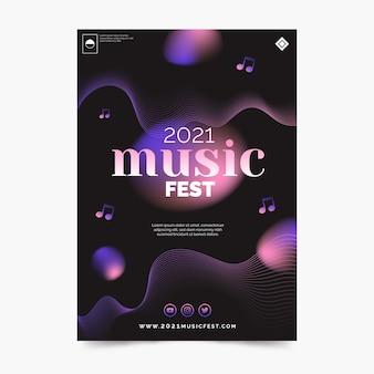 Design sfumato del poster musicale