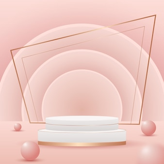 Gradient detailed stage for product