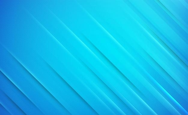 파란색 추상 배경에 그라데이션 대각선 및 선 스트립 그림자 빛