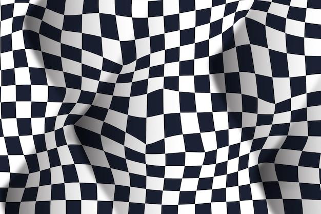 Sfondo a scacchi distorta sfumatura