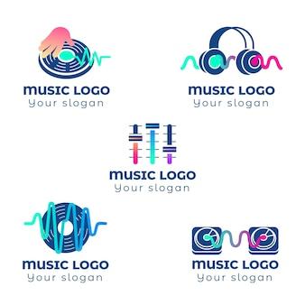Gradient dj logo collection