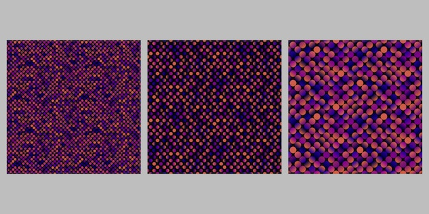 Gradient dot pattern background set