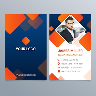 Gradient double-sided business card template