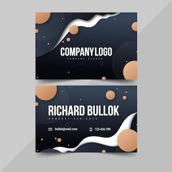 Gradient double-sided horizontal business card template