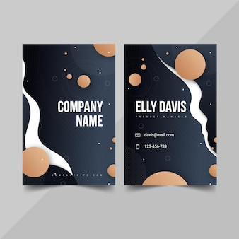Gradient double-sided vertical business card template