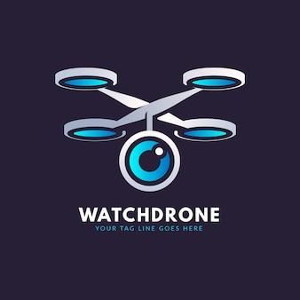 Шаблон логотипа градиент дрона