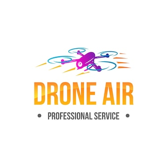 Gradient drone logo template
