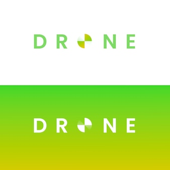 Gradient drone logo