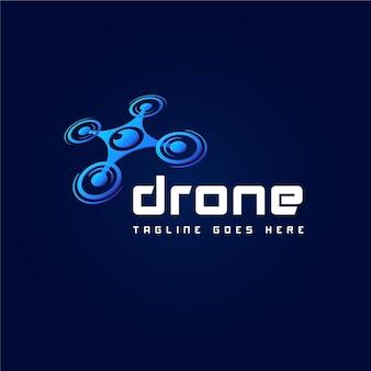 Шаблон логотипа градиентный дрон