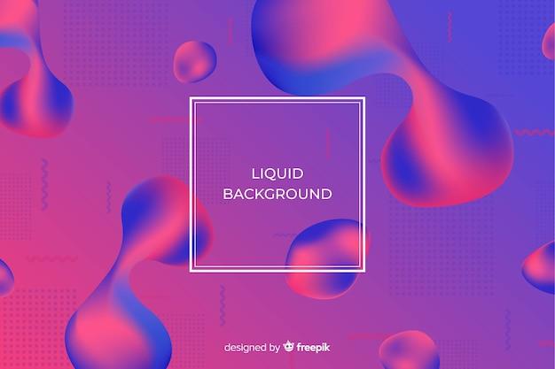 Gradient duotone liquid background