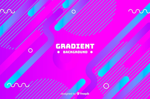Gradient dynamic abstract shapes background