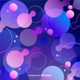 Gradient dynamic background flat design