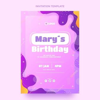 グラデーションの動的な誕生日の招待状