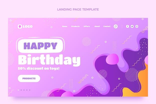 グラデーションの動的な誕生日のランディングページ