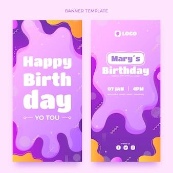 グラデーションの動的な誕生日の垂直バナー