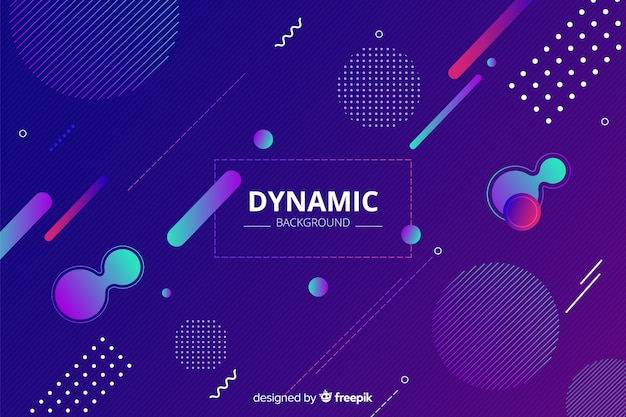 Gradient dynamic flat style background