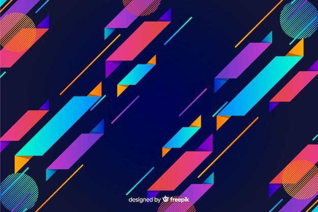 Gradient dynamic geometric shape background