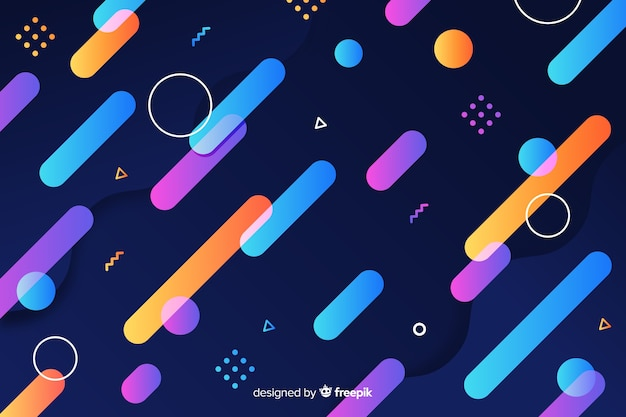 Gradient dynamic geometric shapes background