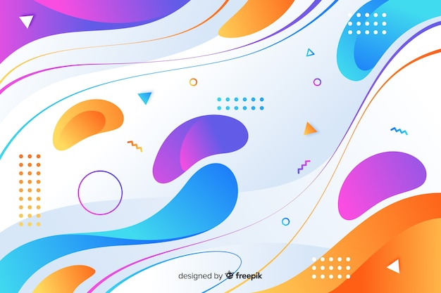 Gradient dynamic rounded shapes background