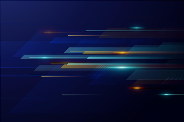 Gradient dynamic technology background