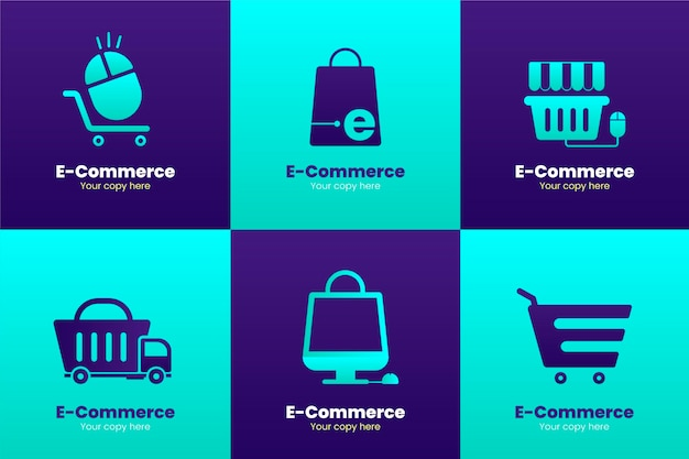 Gradient e-commerce logos pack