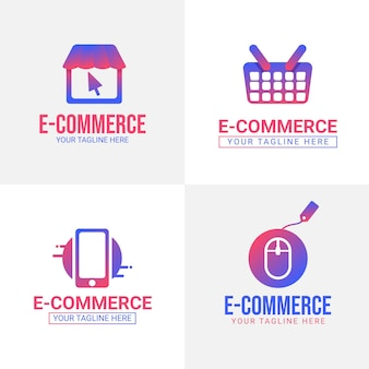 Gradient e-commerce logos pack