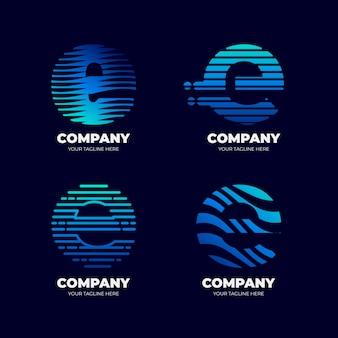 Коллекция шаблонов градиентных логотипов