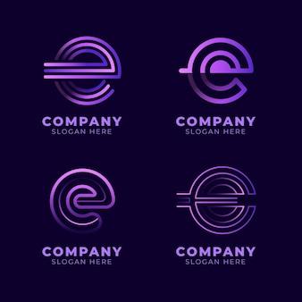 Набор шаблонов градиентных логотипов