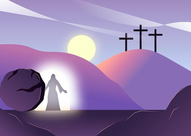 그라디언트 부활절 일요일 그림