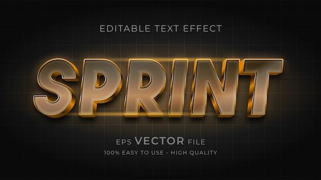 Gradient editable text effect sprint