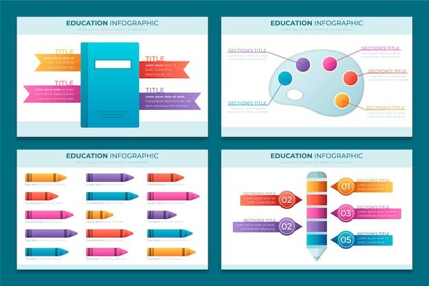 Gradient education infographics