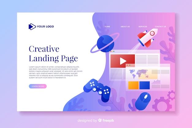 Gradient effect landing page