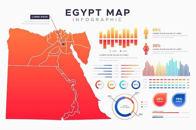 그라디언트 이집트지도 infographic