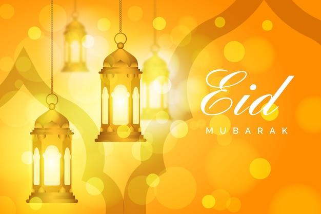 Gradiente eid al-fitr - illustrazione di eid mubarak