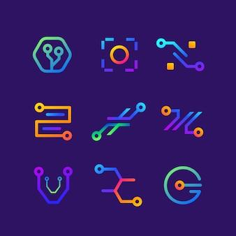 Gradient electronics logo collection