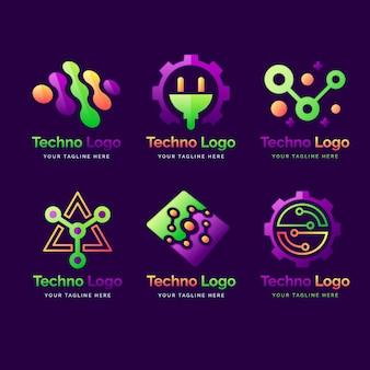 グラデーションエレクトロニクスのロゴコレクション