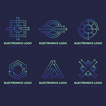 Gradient electronics logos pack