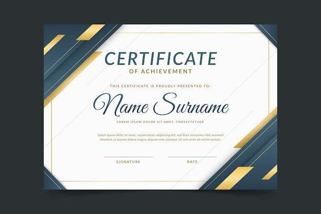 Gradiente elegante certificato di conseguimento