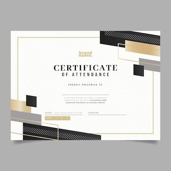 Gradient elegant certificate of attendance template