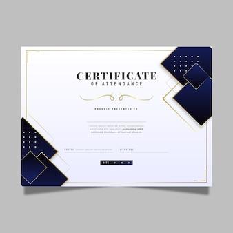 Gradient elegant certificate with golden elements