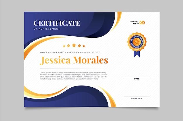 Gradient elegant certificate