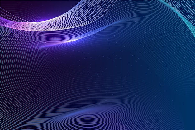 Градиентный фон волны эквалайзера Бесплатные векторы