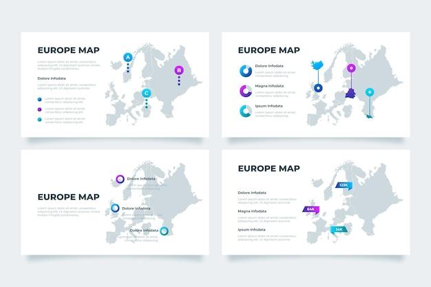 그라데이션 유럽지도 infographic