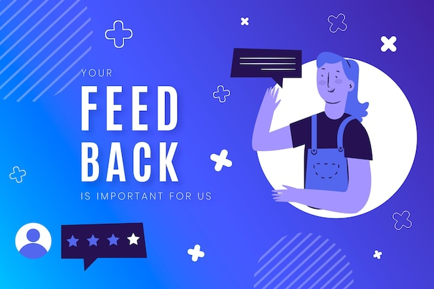 Illustrazione di concetto di feedback gradiente