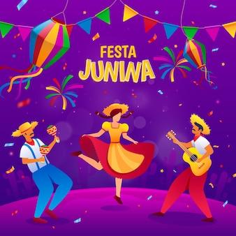 Illustrazione di festa junina gradiente