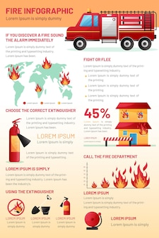 Шаблон инфографики градиент огня