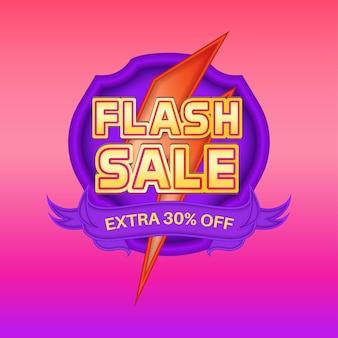 Gradient flash sale banner social media promotion template