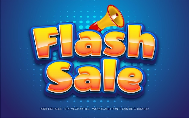 Gradient flash sale on blue background