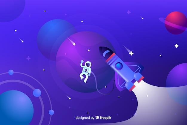 Градиентная плоская ракета, путешествующая по галактике