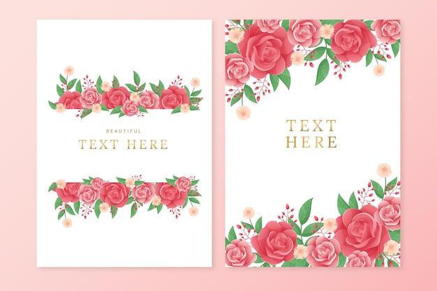 그라데이션 꽃 카드 컬렉션